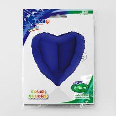 HEART BLUE CAPRI - BALON FOLIE, FORMA INIMA, DIAM. 46CM