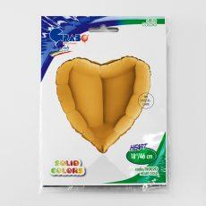 HEART GOLD - BALON FOLIE, FORMA INIMA, DIAM. 46CM