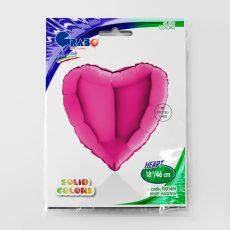 HEART MAGENTA - BALON FOLIE, FORMA INIMA, DIAM. 46CM