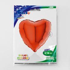 HEART ORANGE - BALON FOLIE, FORMA INIMA, DIAM. 46CM