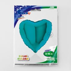 HEART TIFFANY, BALON FOLIE, 45CM