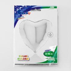 HEART WHITE - BALON FOLIE, FORMA INIMA, DIAM. 46CM