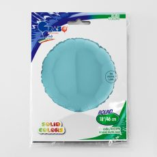 ROUND LIGHT BLUE - BALON FOLIE, FORMA ROTUNDA, DIAM. 46CM