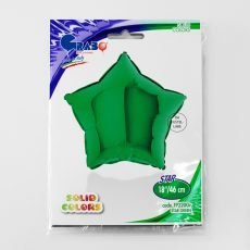 STAR GREEN - BALON FOLIE, FORMA STEA, DIAM. 46CM