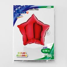 STAR RED - BALON FOLIE, FORMA STEA. DIAM. 46CM