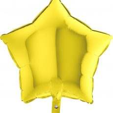 STAR YELLOW - BALON FOLIE, FORMA STEA, DIAM. 46CM