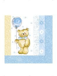 Tedy Bear Blue Servetele