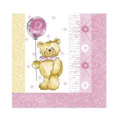 Tedy Bear Pink Servetele