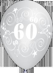 BALOANE LATEX MULTICOLORE -  ANIVERSARE 60 ANI, DIAM. 30CM, SET DE 10 BUC.