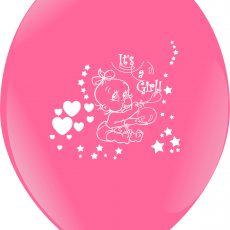 BALOANE LATEX IMPRIMARE STANDARD SWEET BABY GIRL 10 BUC.