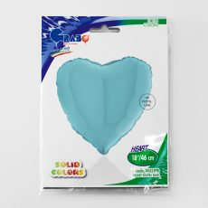 HEART LIGHT BLUE, BALON FOLIE, 45CM