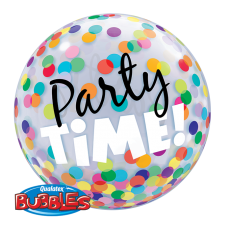 PARTY TIME BUBBLES - BALON FOLIE, FORMA ROTUNDA, DIAM. 56CM