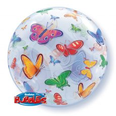 BUTTERFLIES BUBBLES - BALON FOLIE, FORMA ROTUNDA, DIAM. 56CM