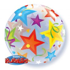 BRILLIANT STARS BUBBLES - BALON FOLIE, FORMA ROTUNDA, DIAM. 56CM