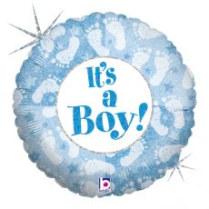 IT'S A BOY FOOTPRINT, BALON FOLIE, 45CM