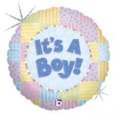 PATCHWORK BABY BOY, BALON FOLIE, 45CM