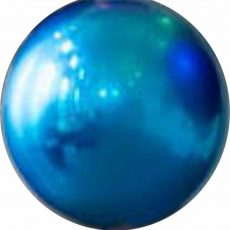 MIRROR BALL BLUE, BALON FOLIE, 40CM