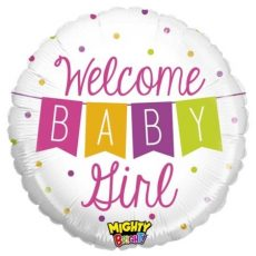 WELCOME BABY GIRL, BALON FOLIE, 53CM