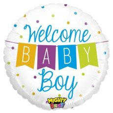 WELCOME BABY BOY, BALON FOLIE, 53CM