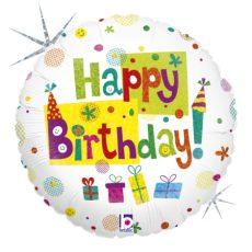 HAPPY BIRTHDAY PARTY, BALON FOLIE, 45CM