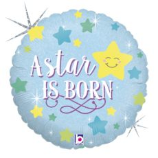 A STAR IS BORN BOY - BALON FOLIE BOTEZ, FORMA ROTUNDA, DIAM. 46CM