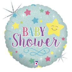 BABY STAR SHOWER, BALON FOLIE, 45CM