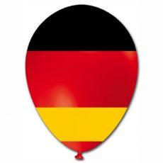 GERMANIA - BALOANE LATEX DRAPEL, DIAM. 30CM, SET 10 BUC.