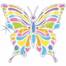 FLUTURE PASTEL BUTTERFLY - BALON FOLIE FIGURINA, 84CM