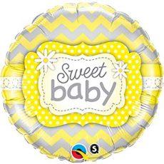 SWEET BABY- BALON FOLIE BOTEZ, FORMA ROTUNDA, DIAM. 45CM