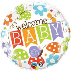 WELCOME  BABY GARDEN - BALON FOLIE BOTEZ, FORMA ROTUNDA, DIAM. 45CM