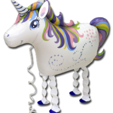 UNICORN - BALON FOLIE FIGURINA, MODEL WALKING, 63CM
